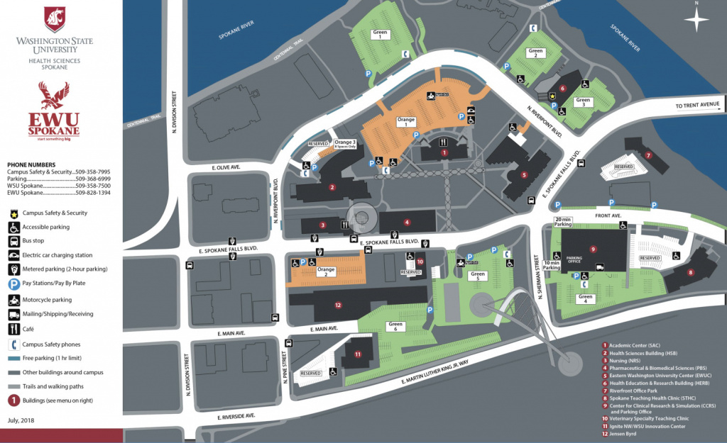 Campus Map | Facilities Services | Washington State University pertaining to Sacramento State Map Pdf