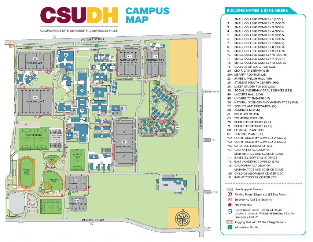 Campus Map inside Sac State Campus Map