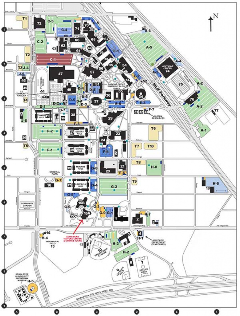 Campus Map | Lamar University In Texas - Lamar University regarding Wayne State University Campus Map
