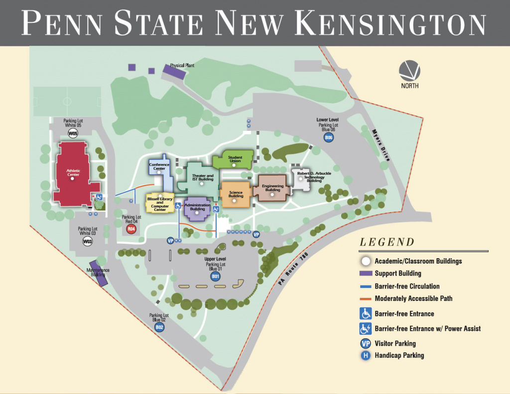 Campus Map | Penn State New Kensington pertaining to Penn State University Park Campus Map