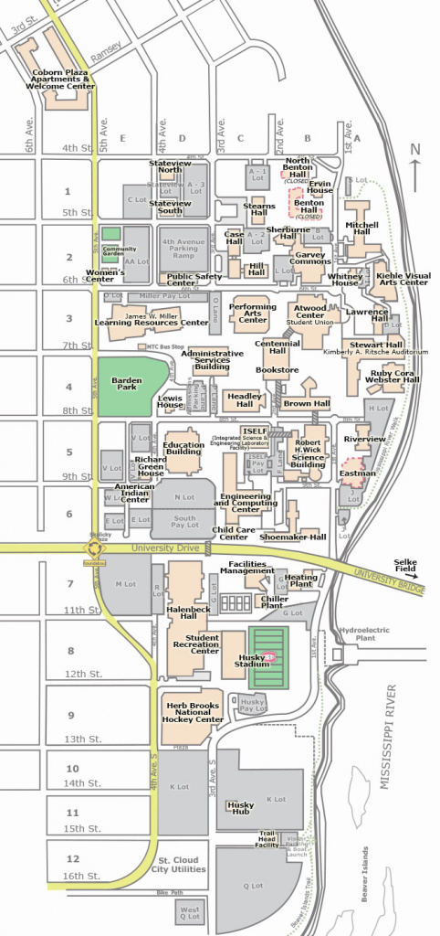 Campus Map | St. Cloud State University intended for Central State University Campus Map