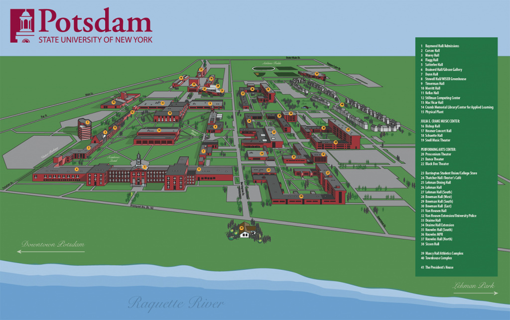 Campus Map | Suny Potsdam inside State University Of New York Map