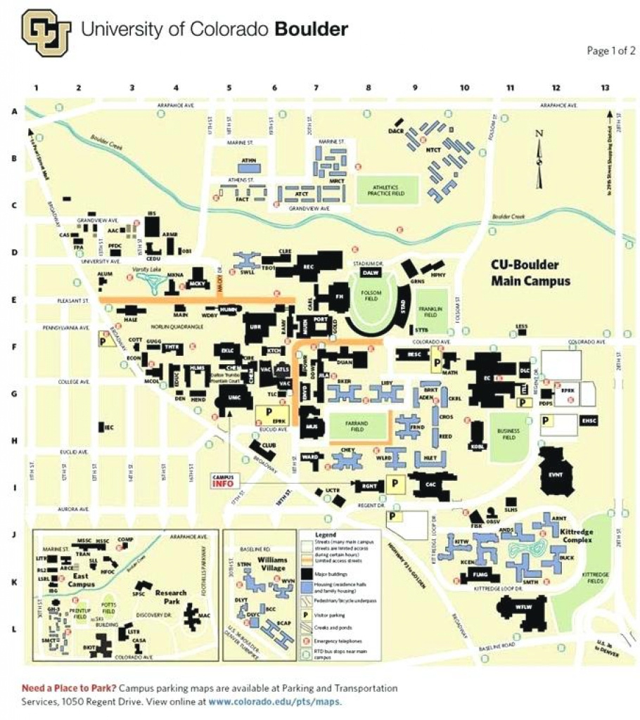 Campus Map University Catalog Of Boulder Colorado State With in Colorado State Campus Map
