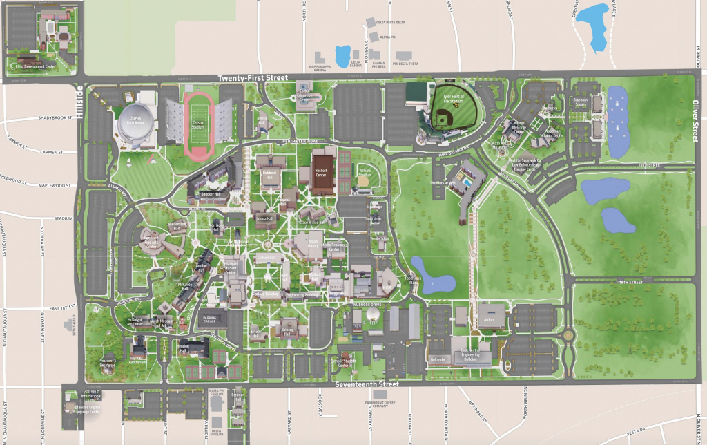 Campus Map | Wichita State University Online Visitor Guide throughout Wichita State University Campus Map Pdf
