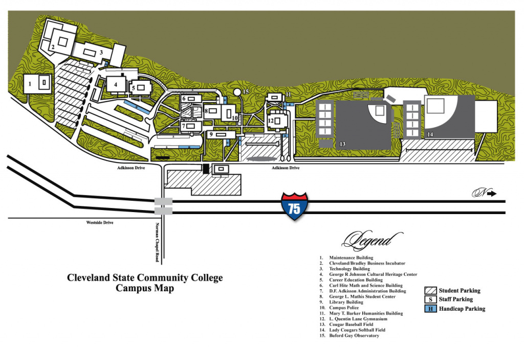 Campus Maps - Cleveland State Community College - Acalog Acms™ inside Cleveland State Map