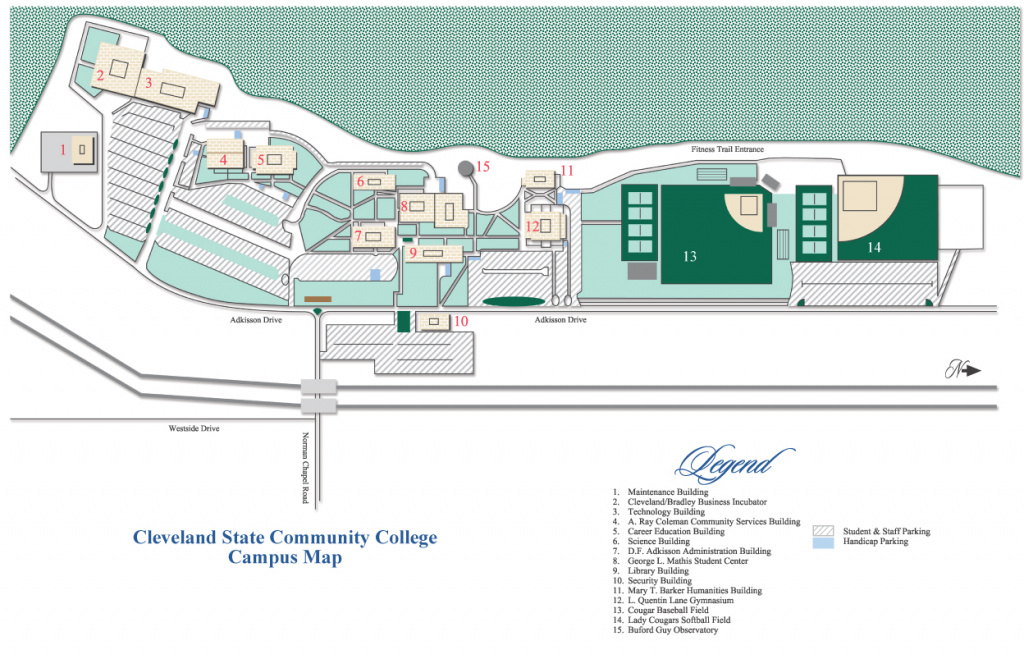 Campus Maps - Cleveland State Community College - Acalog Acms™ within Cleveland State Map
