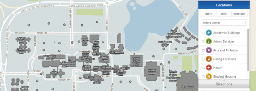 Campus Maps - University At Buffalo with regard to Buffalo State College Parking Map