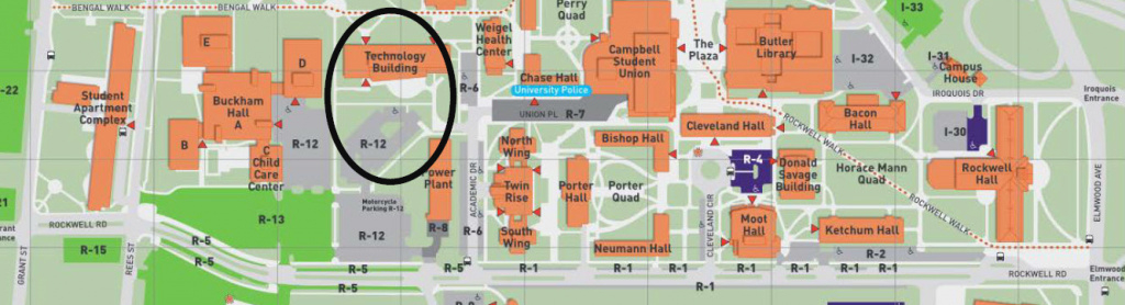 Campus Tour Buff State College Technology Building – Isa Niagara with regard to Buffalo State College Parking Map