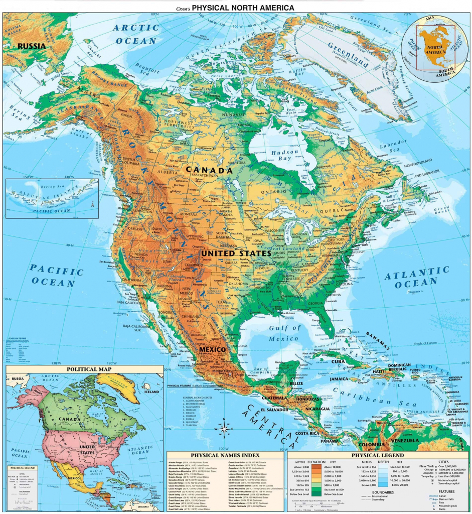 Canada Physical Map Rivers Unique Us Map Rivers And Mountains inside United States And Canada Physical Map