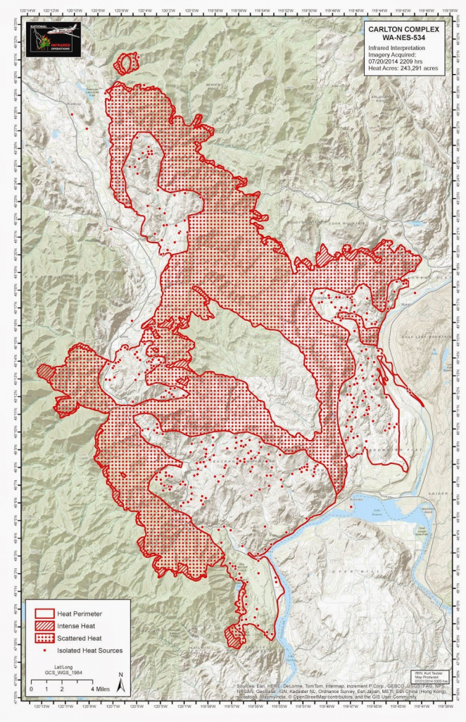 Carlton Complex Fire Largest In Washington State History - Wildfire intended for Wa State Fire Map