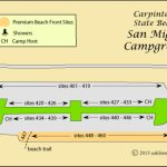 Carpinteria State Beach Camping Pertaining To Carpinteria State Beach Campground Map