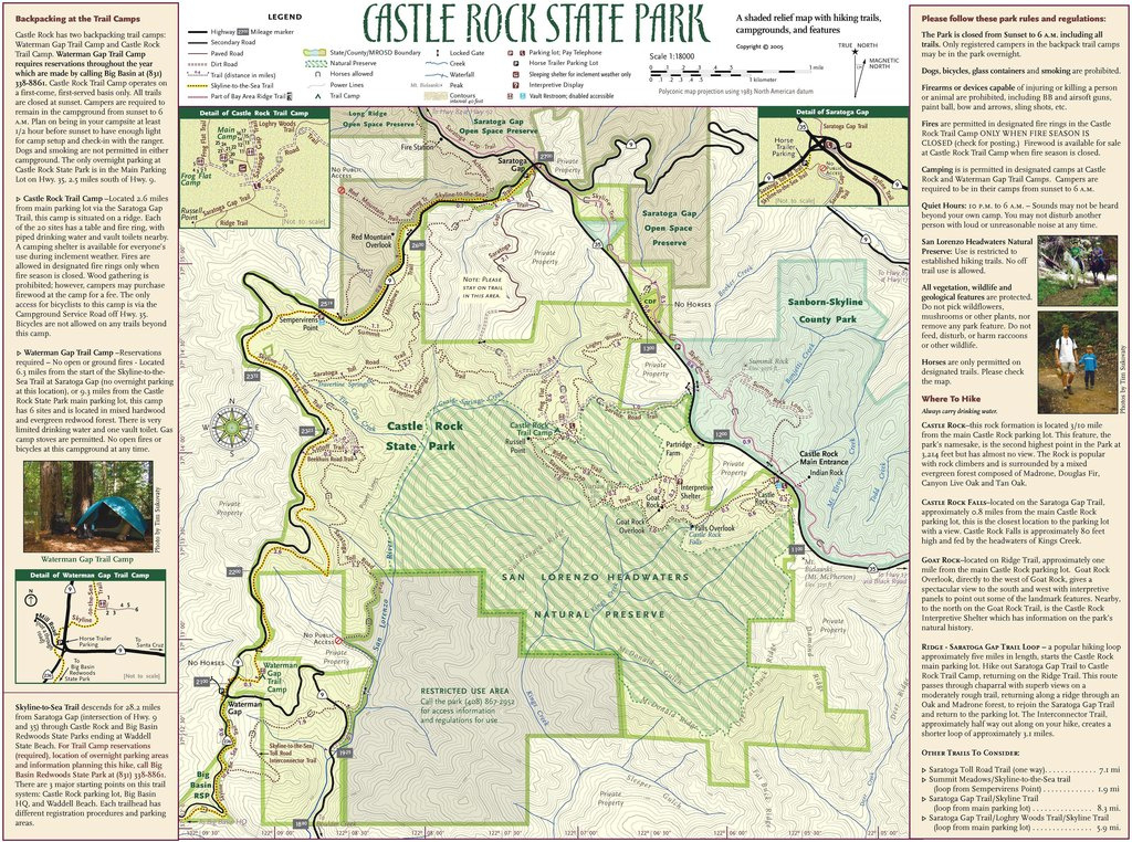 Castle Rock State Park - Maplets pertaining to Castle Rock State Park Map