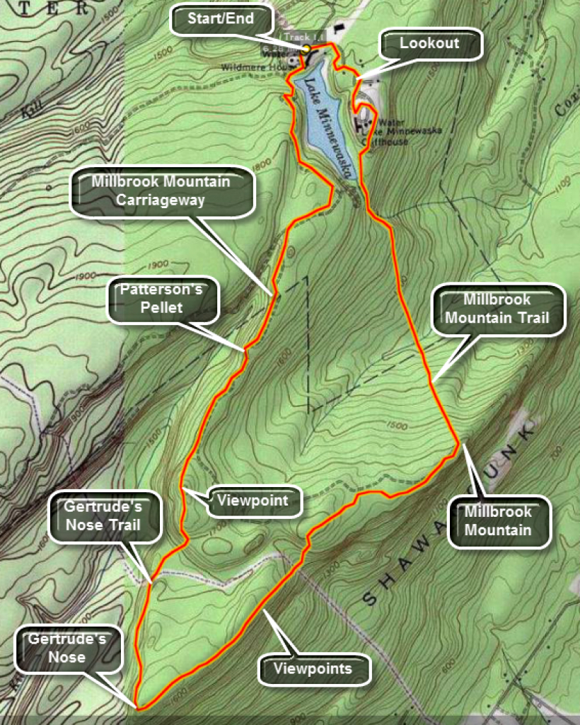 Catskill Hiker: Shawangunk Trails with regard to Minnewaska State Park Trail Map