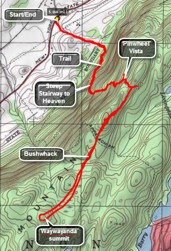 Catskill Hiker: Wawayanda Mountain intended for Wawayanda State Park Hiking Trail Map