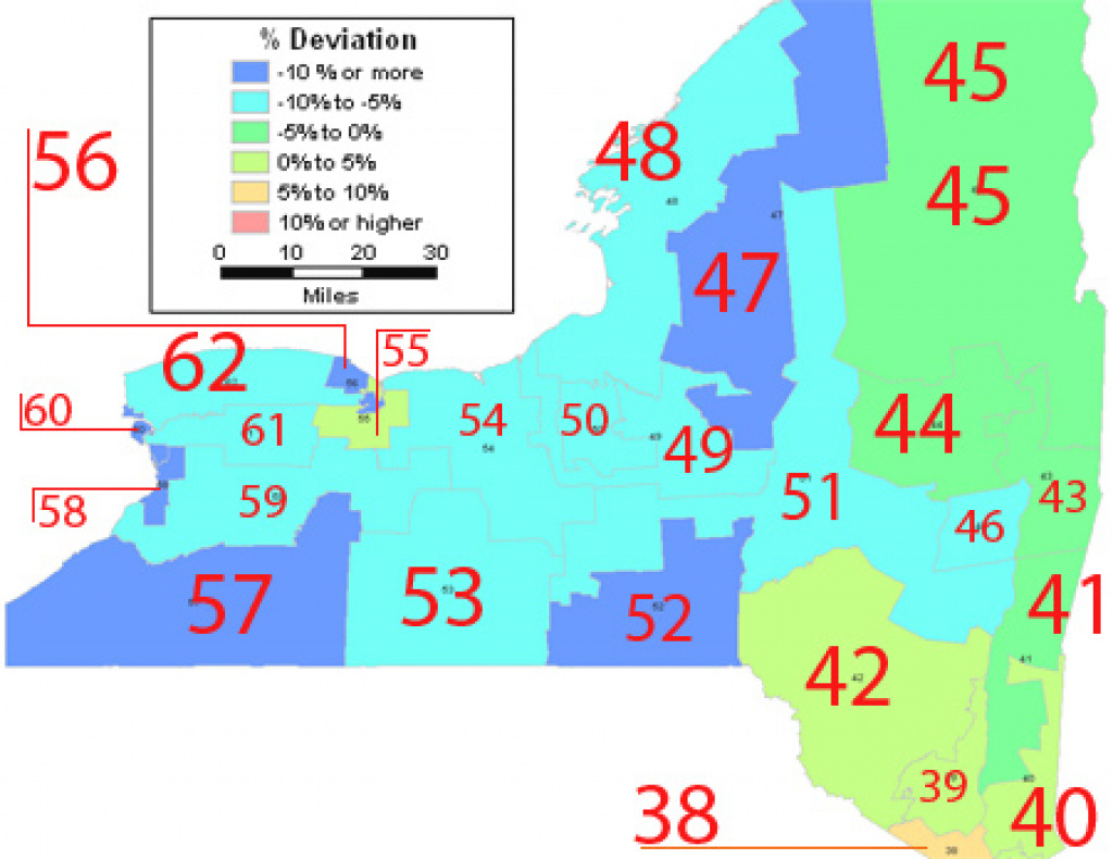 Census Could Set Off Major Redistricting In State inside New York State Senate Map
