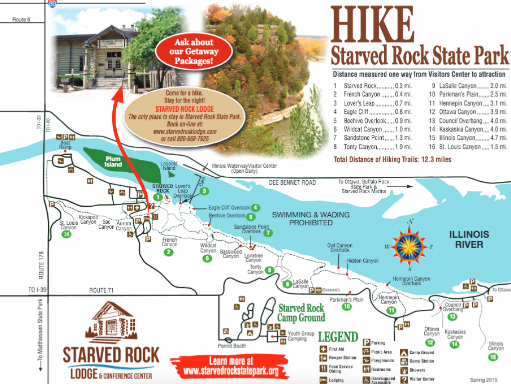 Chasing Waterfalls In Illinois: Starved Rock State Park! - Trailer within Starved Rock State Park Trail Map
