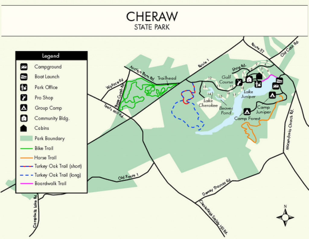 Cheraw State Park Map - Cheraw State Park South Carolina • Mappery regarding South Carolina State Parks Map