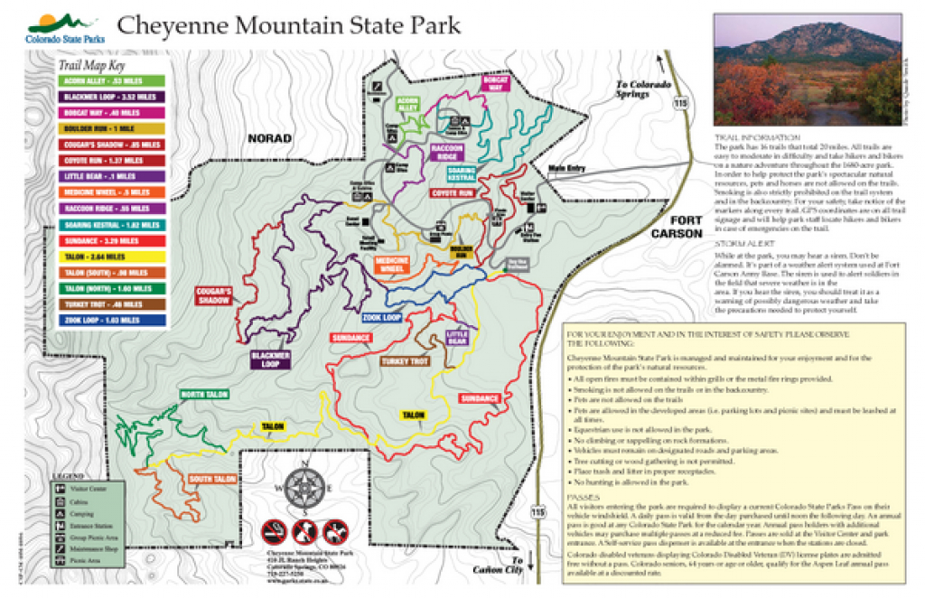 Cheyenne Mountain State Park Map - Cheyenne Mountain Colorado in Colorado State Parks Map