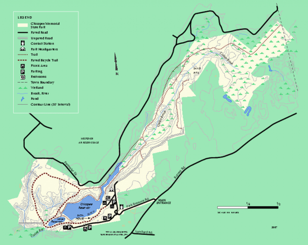 Chicopee State Park Trail Map - Chicopee State Park Ma • Mappery inside Trailview State Park Trail Map