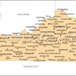 Cities In Kentucky, Kentucky Cities Map Within Kentucky State Map With Cities And Counties