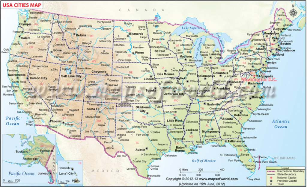 Cities In Usa, Cities Map Of Usa, Us Cities List in Usa Map With States And Cities