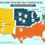Cities Where You're Most Likely To Overpay For Gas In 2016 Inside Gas Prices Per State Map