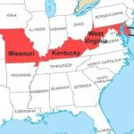 Civil War: Border States   Brothers At War With Outline Map The States Choose Sides