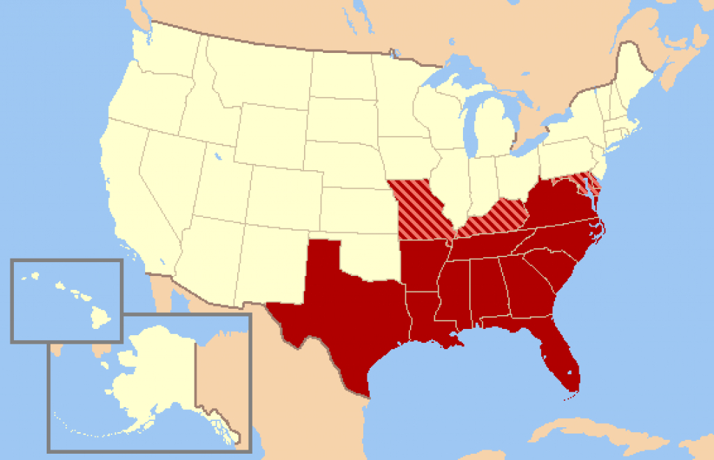 Civil War Map Of The Us - Kids Maps with Civil War Map Union And Confederate States