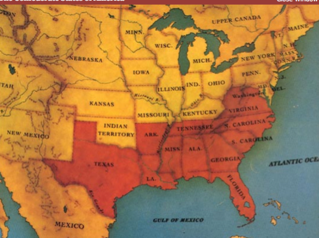 Civil War pertaining to Confederate States Of America Map