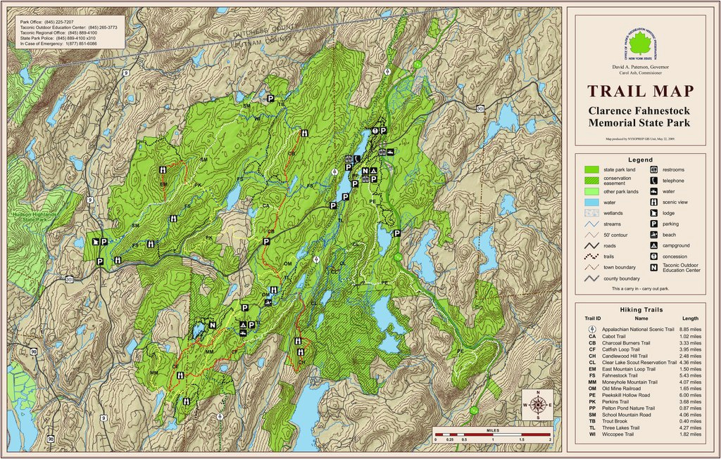 Clarence Fahnestock State Park - Maplets throughout Fahnestock State Park Trail Map