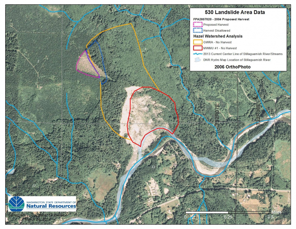 Clear-Cut Crossed Into No-Logging Zone In Oso | Kuow News And intended for Washington State Mudslide Map