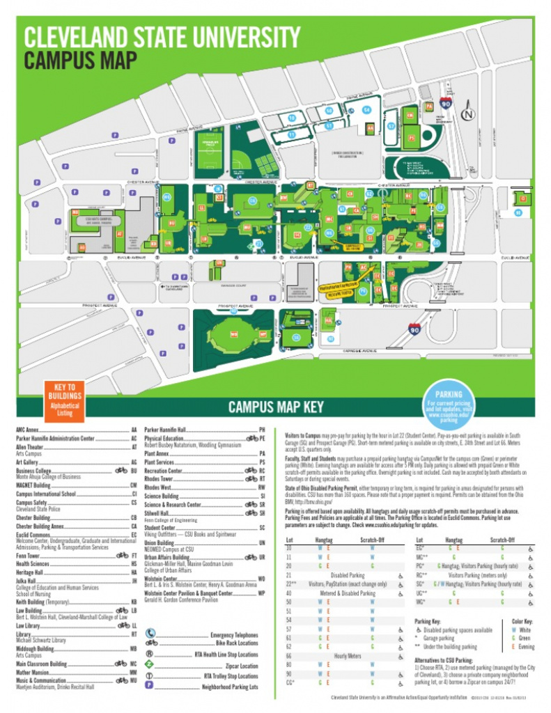 Cleveland State Campus Map | The National Map: Printable Maps pertaining to Cleveland State Map