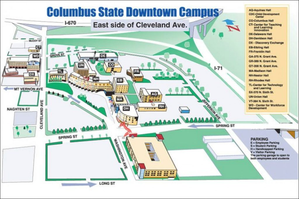 Cleveland State Campus Map   The National Map: Printable Maps Within Columbus State Campus Map
