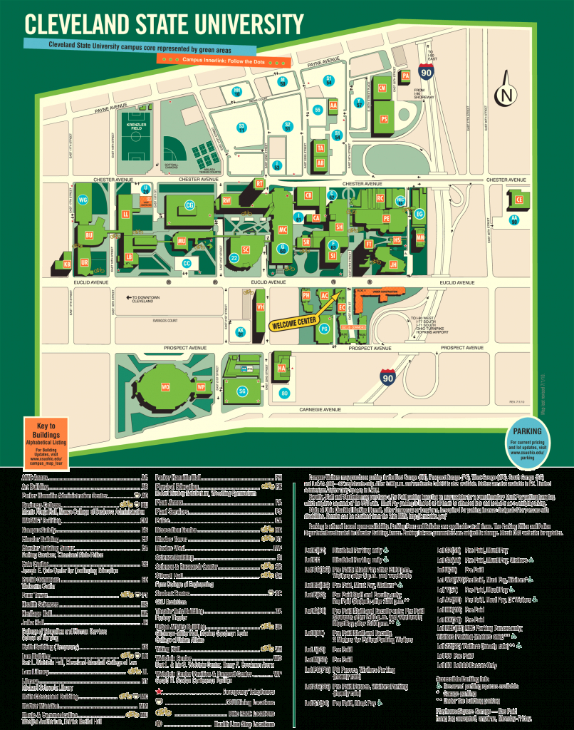 Cleveland State University Campus Map • Mapsof in Cleveland State Map