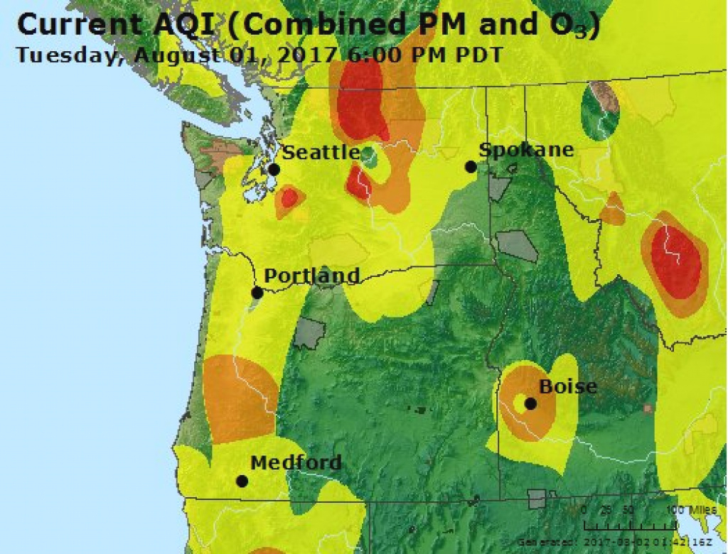 Cliff Mass Weather And Climate Blog: Smoke Pushes Into Washington State throughout Washington State Air Quality Map