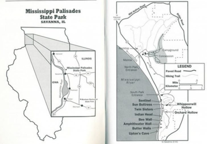 Mississippi Palisades State Park Trail Map