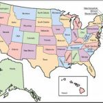 Clip Art: United States Map Color Labeled I Abcteach | Abcteach Within A Labeled Map Of The United States