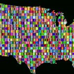 Clipart   Chromatic Mosaic United States Map For A Big Picture Of The United States Map