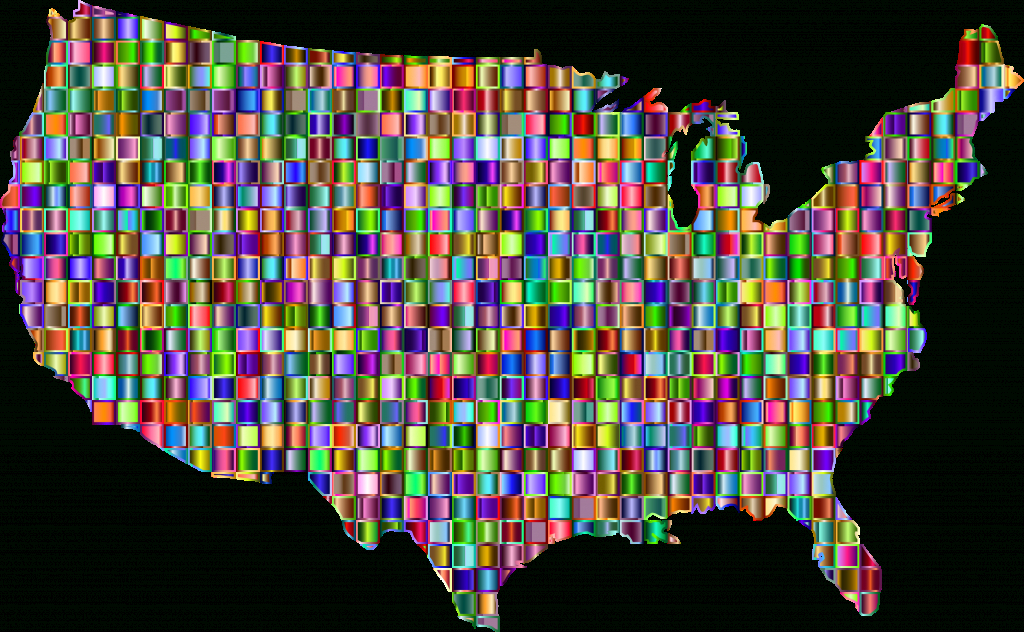 Clipart - Chromatic Mosaic United States Map for A Big Picture Of The United States Map