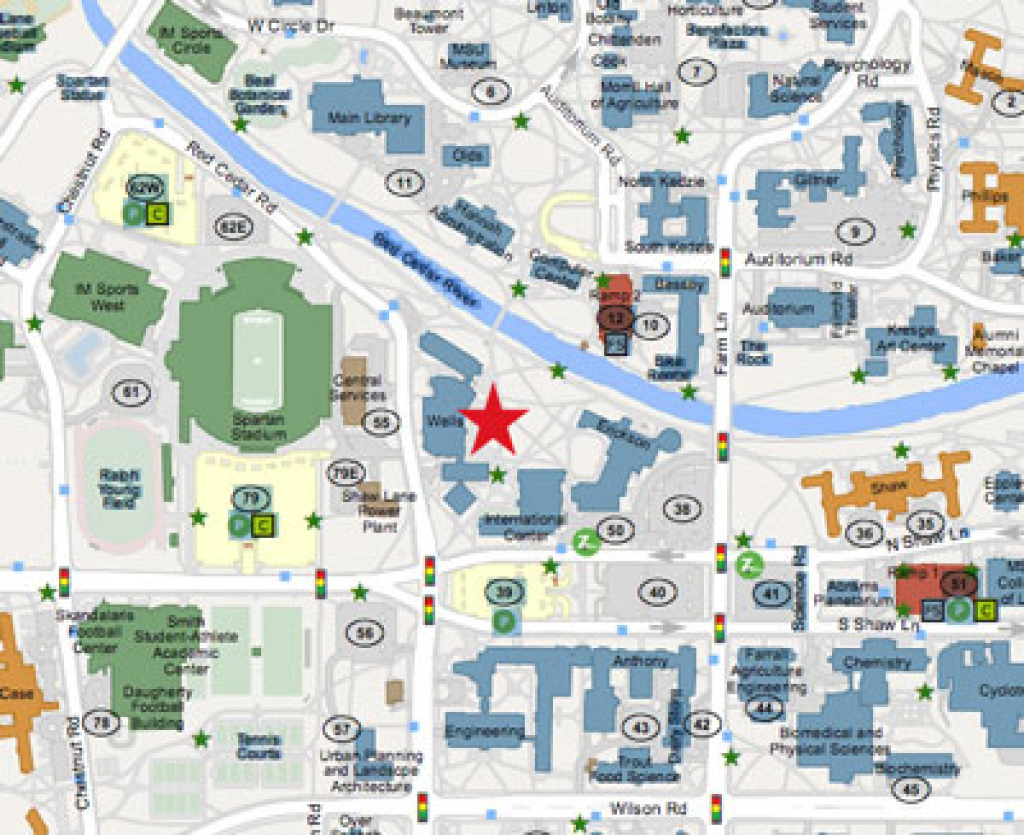College Of Arts & Letters - Map And Parking pertaining to Michigan State Football Parking Lot Map