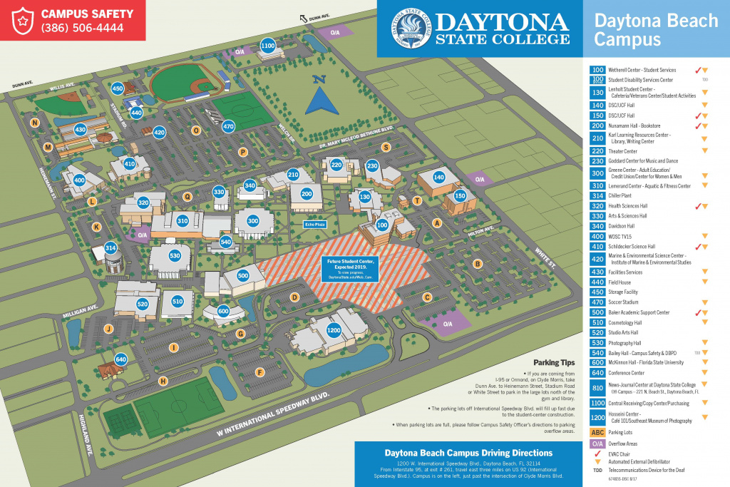 Colleges In Daytona Beach Fl | The Best Beaches In The World within Daytona State College Deland Campus Map