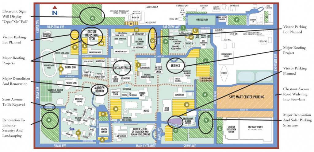 Collegian • News • Other Campus Construction In Progress pertaining to Fresno State Campus Map