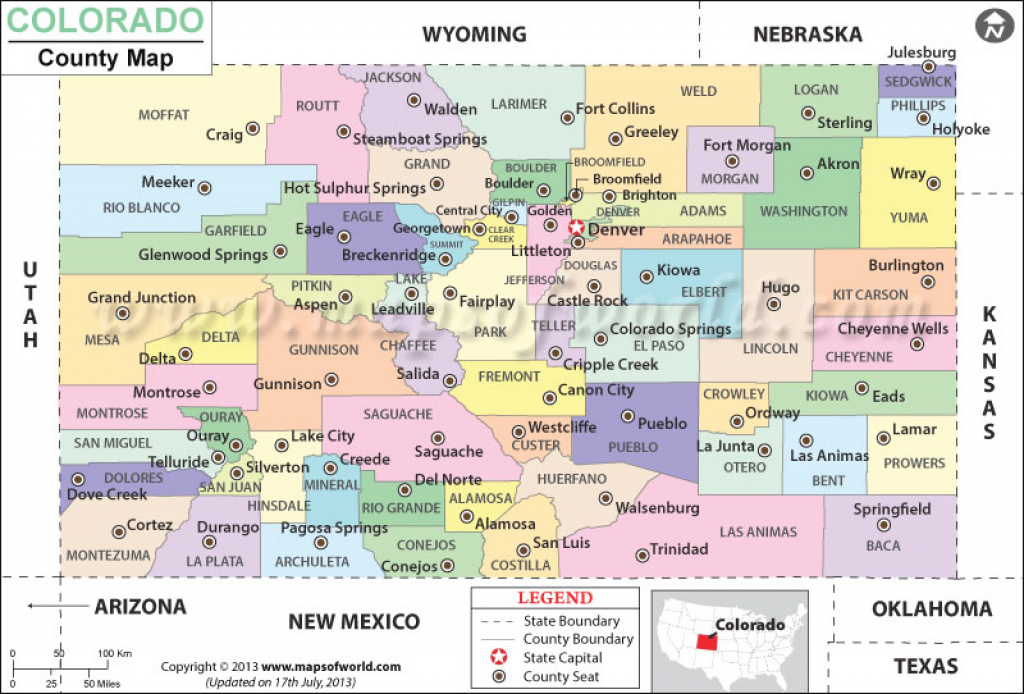 Colorado County Map, Colorado Counties pertaining to Colorado State Map With Counties And Cities