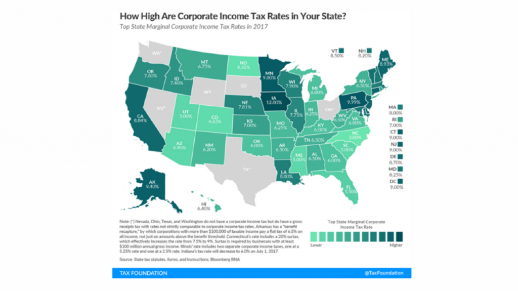 Colorado Goes Easy On Corporate Income Taxes - Denver Business Journal throughout States Without Income Tax Map