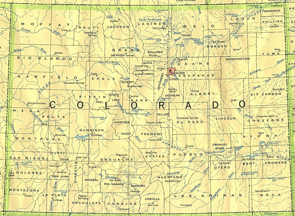 Colorado Maps - Perry-Castañeda Map Collection - Ut Library Online inside Picture Of Colorado State Map