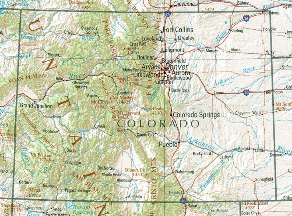 Colorado Maps - Perry-Castañeda Map Collection - Ut Library Online within Picture Of Colorado State Map