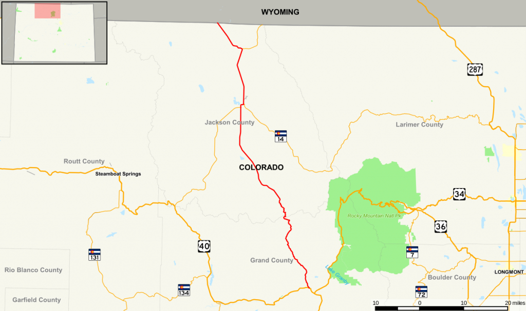 Colorado State Highway 125 - Wikipedia inside Colorado State Driving Map
