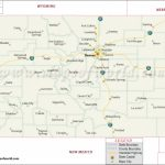 Colorado State Map Regarding Colorado State Map With Counties And Cities