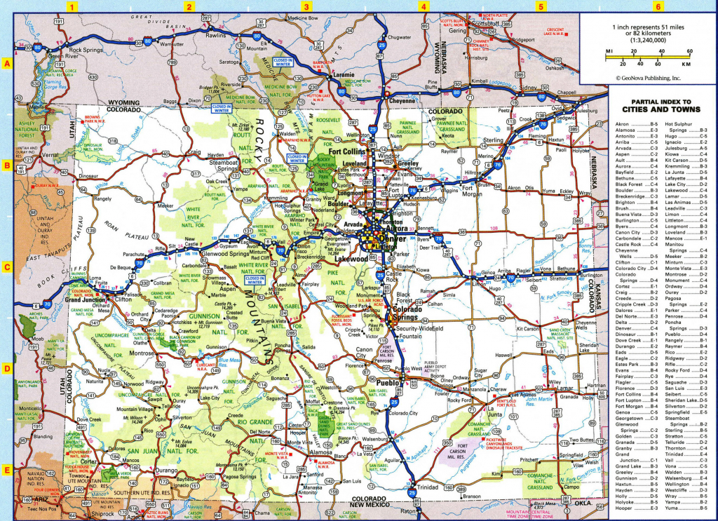 Colorado State Mapcounty Printable 2017 Colorado Map With Cities with regard to Picture Of Colorado State Map