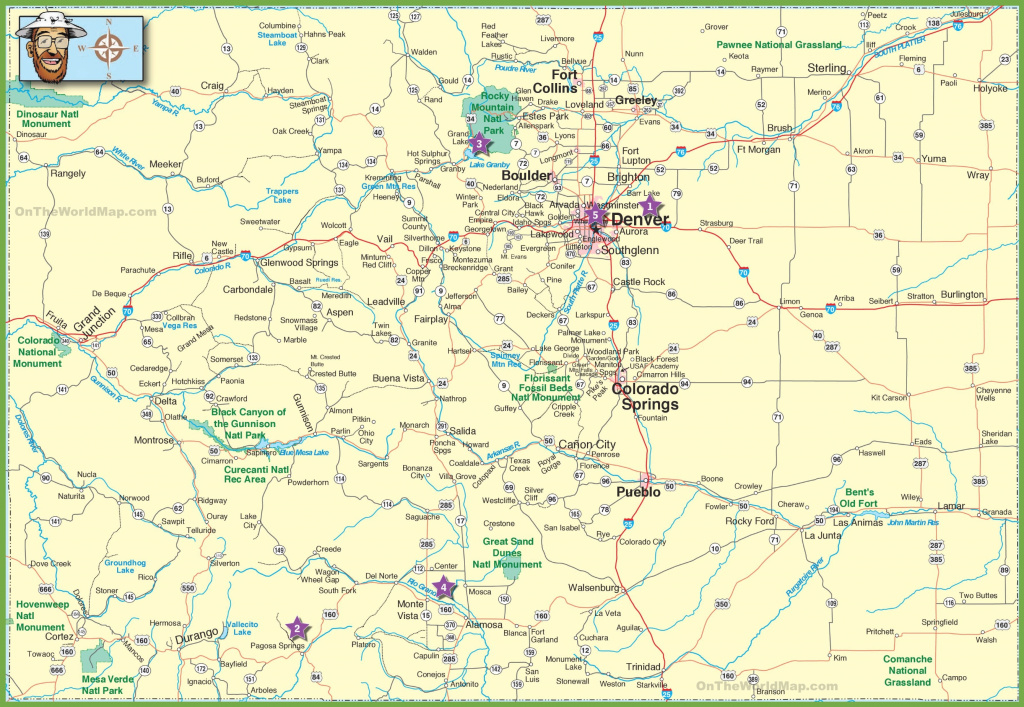 Colorado State Maps With Cities And Travel Information | Download pertaining to Picture Of Colorado State Map